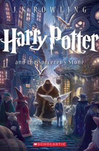 I love the new Harry Potter cover--Hogsmeade by night!