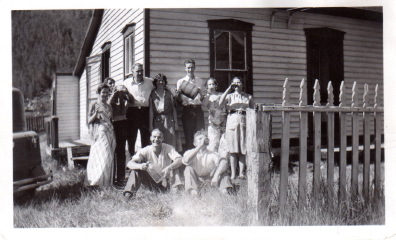 Jeannie's teenage grandmother and her friends at the family cabin in Silverplume, Colorado, during prohibition (which, you can see, they weren't exactly in accordance with)