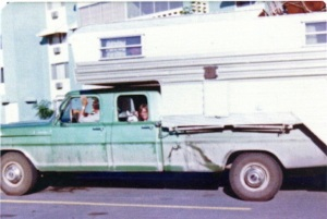 Jeannie's family setting off on a camp trip, circa 1978. (That's Jeannie and her malamute in the backseat.)