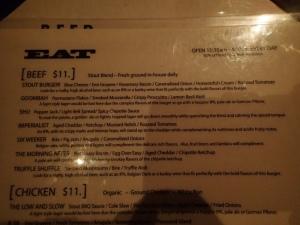 Stout menu